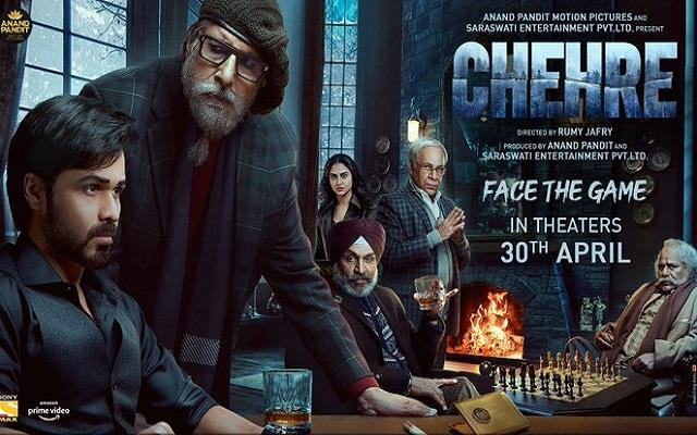 rhea chakraborty missing from the poster of amitabh bachchan and emraan chehre