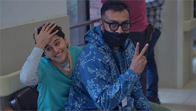 taapsee pannu and anurag kashyap started the shooting of dobara