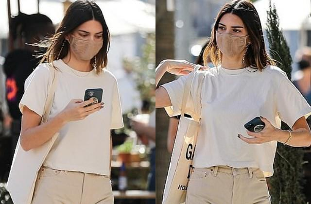 kendall jenner spotted in beverly hills