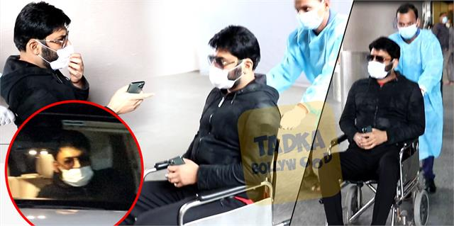 kapil sharma spotted on wheelchair at mumbai airport