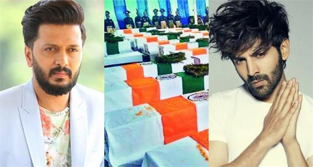 pulwama attack kartik riteish these stars pays tribute soldiers
