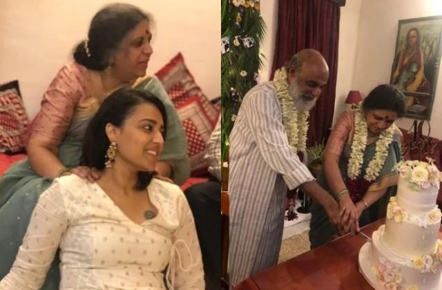 swara bhaskar host party at mummy papa 35th wedding anniversary