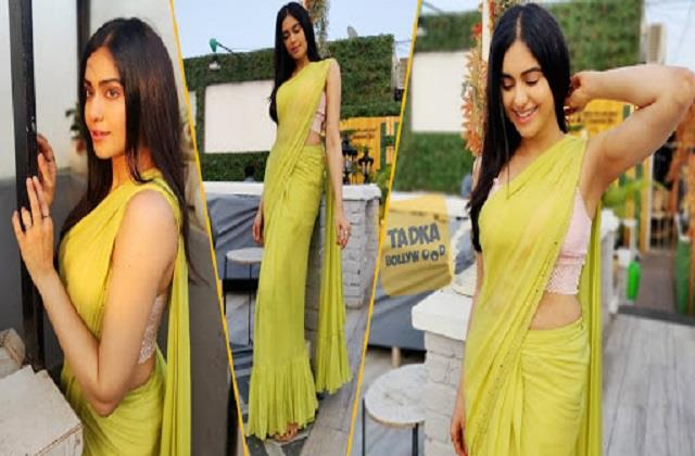 adah sharma saree look photos viral on social media