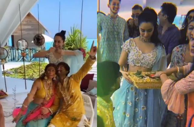 shraddha kapoor looks beautiful in priyaank sharma haldi ceremony