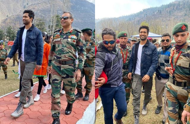 vicky kaushal spend day with indian army and at uri base camp
