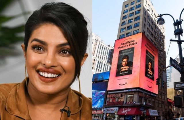 Women's History Month पर प्रियंका के नाम सम्मान, न्यूयॉर्क के 6 मंजिले बिलबोर्ड पर छाईं पीसी