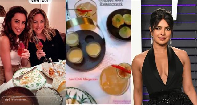 tequila gol gappe crab puri serve in priyanka restaurant sona