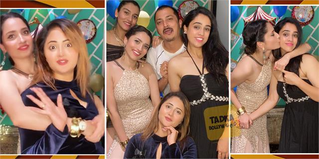 ankita lokhande late night party with rashami desai and friends
