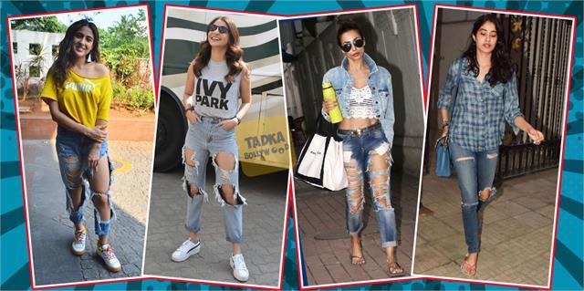 sara ali khan to manyata dutt when actress wear ripped jeans