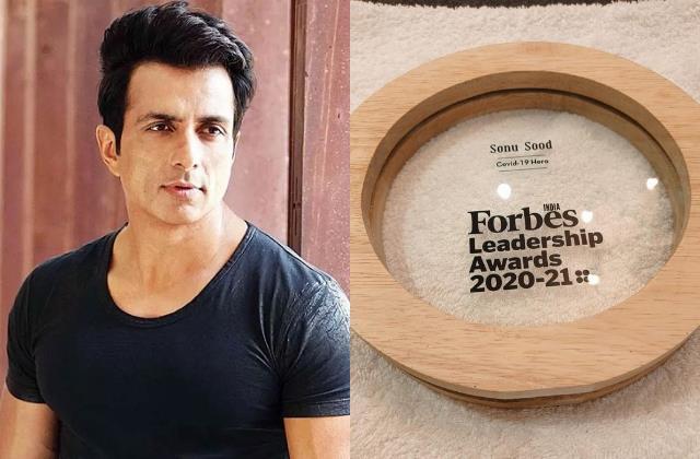 forbes india honour sonu sood leadership award with title covid 19 hero