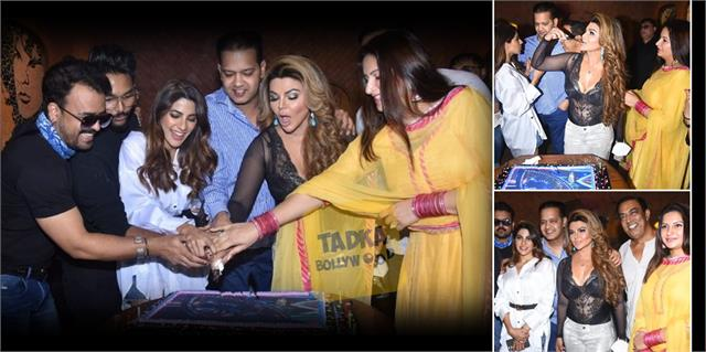 rakhi sawant party with sonali nikki rahul mahajan and other stars