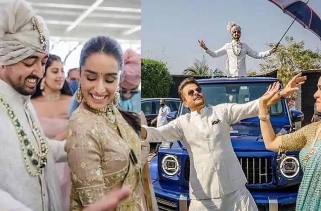 padmini kolhapure dance with anil kapoor at her son priyank sharma wedding