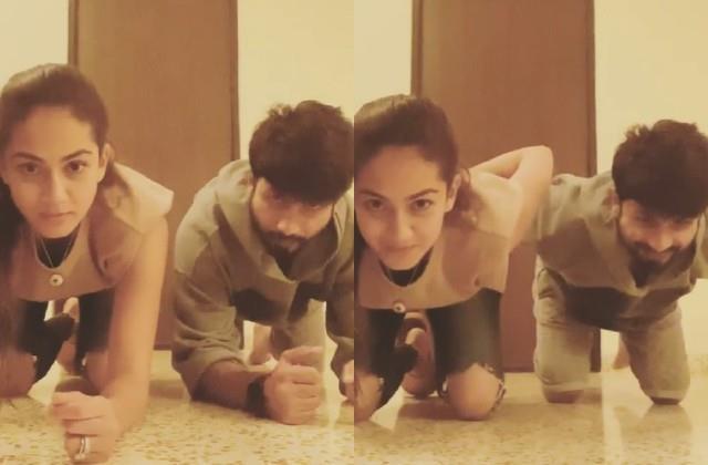 shahid kapoor easily completes wife mira rajput gravity challenge