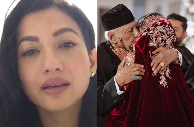 gauhar khan s father zafar ahmad khan died