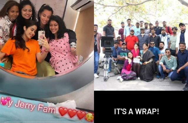 जाह्नवी कपूर ने पंजाब में खत्म की फिल्म 'गुड लक जैरी' की शूटिंग, टीम के साथ शेयर की तस्वीरें