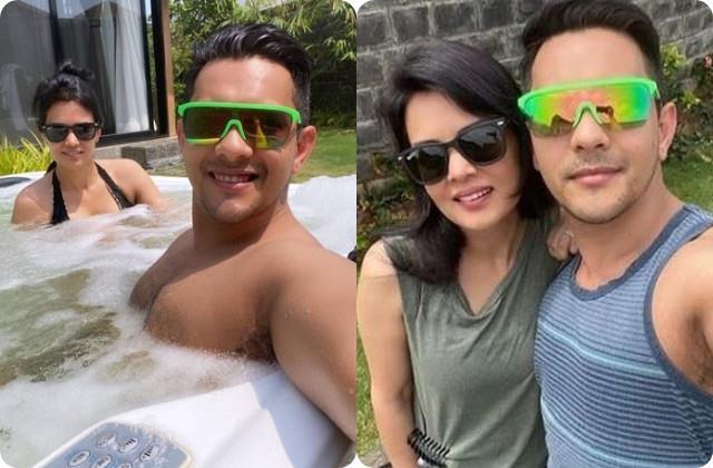 aditya narayan enjoys vacation with wife shweta agarwal