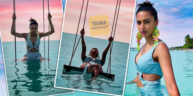 erica fernandes photoshoot in beach of maldives