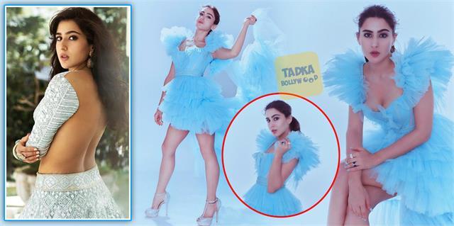 sara ali khan backless blouse photos and cinderella look are internet sensation