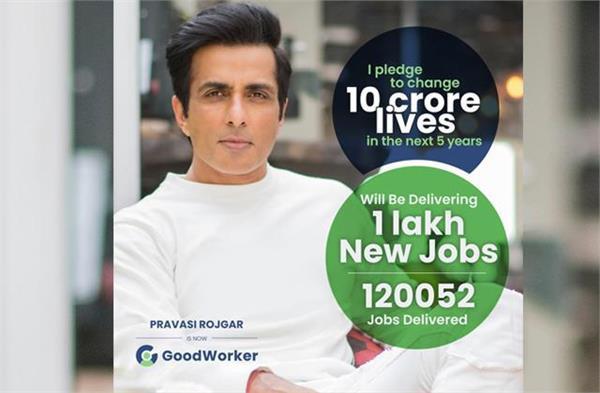 sonu sood provide one lakh job under his good worker application plan