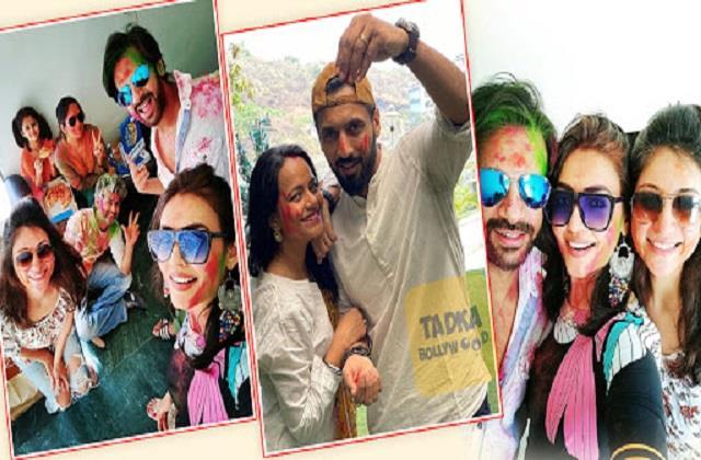 karanvir mehra to puneet pathak celebrated first holi after marriage