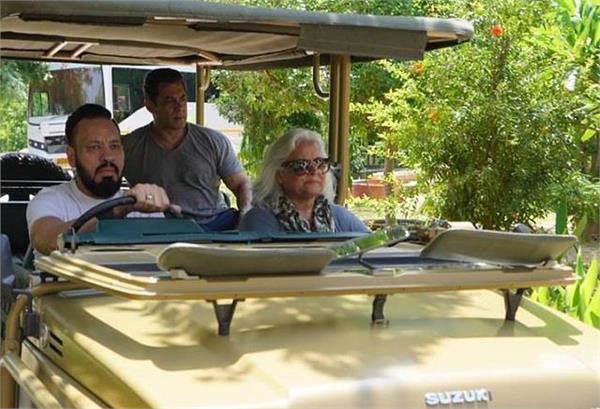 बॉडीगार्ड संग जंगल में जीप की सवारी करने निकले सलमान खान, बैक सीट पर बैठे एक्टर का दिखा 'दबंगई' अंदाज