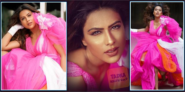 nia sharma looked gorgeous in pink gown