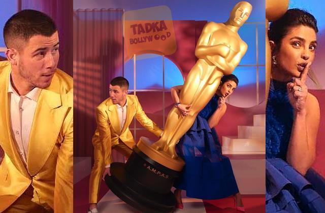 priyanka chopra steal an oscarwith nick jonas after announcing nominees