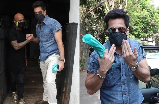 fardeen khan ask paparazzi what picture will you take with mask