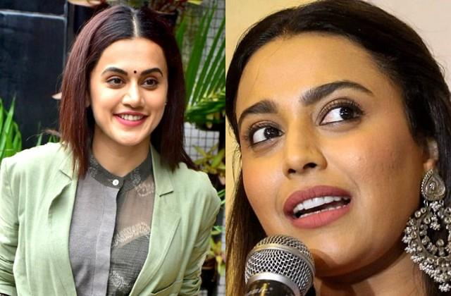 swara boosted the taapsee confidence after the income tax department raid