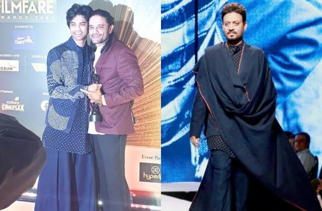 babil had come to take the filmfare award wearing his father irrfan clothes