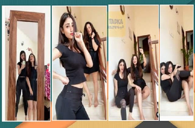 mouni roy dance on song shower with her friend