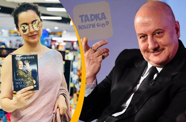kangana bought anupam kher book  your best day is today  from book store