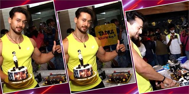 tiger shroff celebrates birthday with media