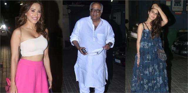 nushrat bharucha fatima sana shaikh  other stars attend screening  roohi