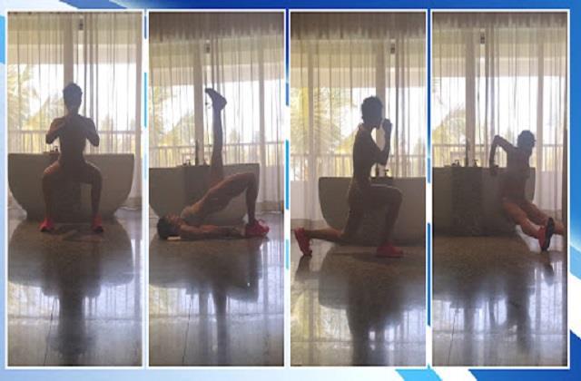 mandira bedi shares her workout video