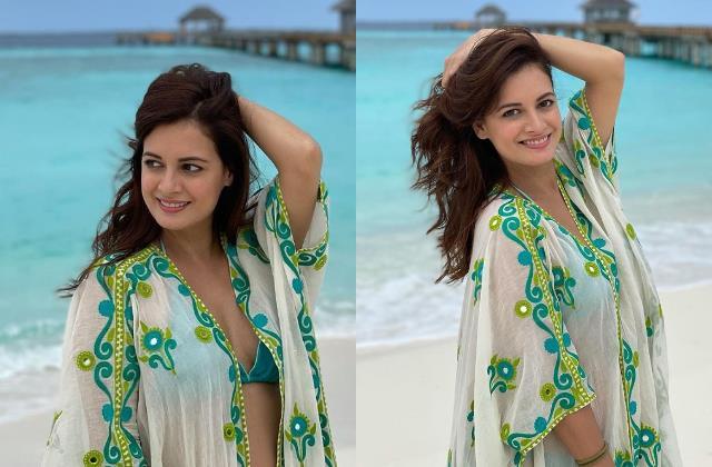 dia mirza enjoy her honeymoon with husband vaibhav rekhi in maldives
