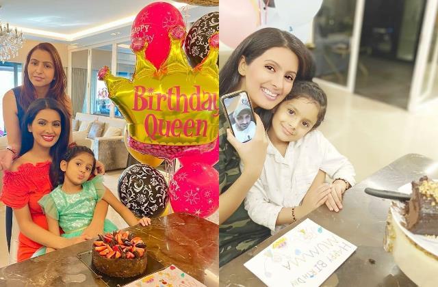 geeta basra celebrate her birthday with hubby on video call
