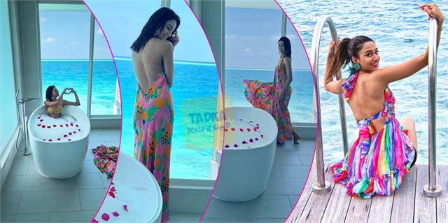 erica fernandes share bold pics from maldives poses in bathtub