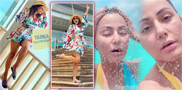 hina khan share pictures from her maldives vacation