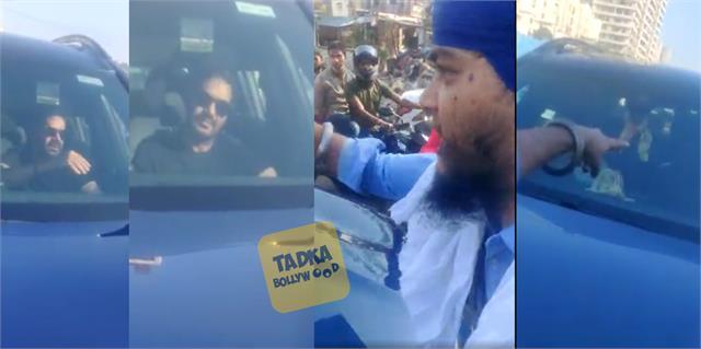 farmers protest angry nihang singh stop ajay devgan car in road