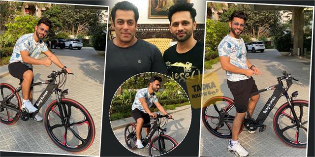 bigg boss 14 runner up rahul vaidya got special gift from salman khan