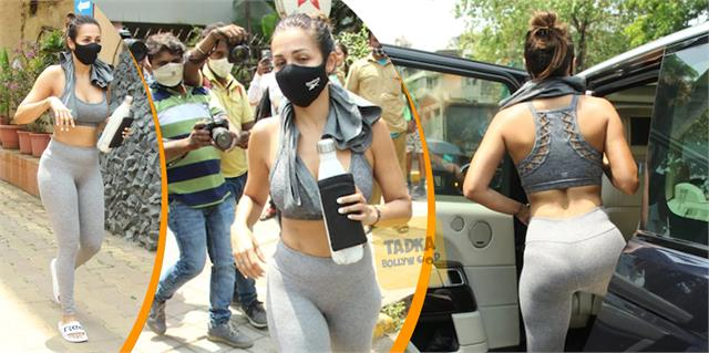 malaika arora looks all sweaty as she spotted after her post workout