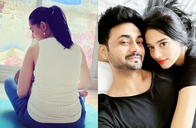 husband rj anmol shared photo of amrita rao breastfeeding son