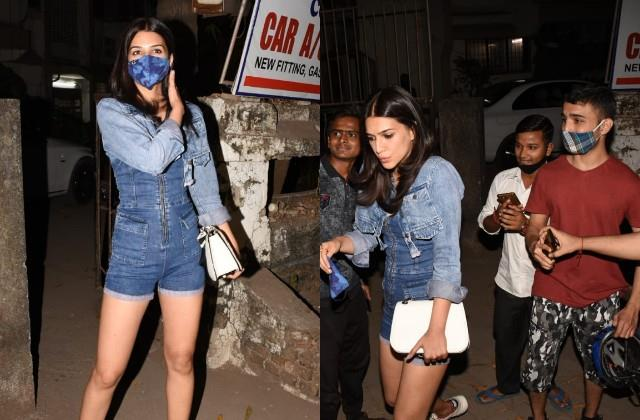 kriti sanon looked bold in denim outfit