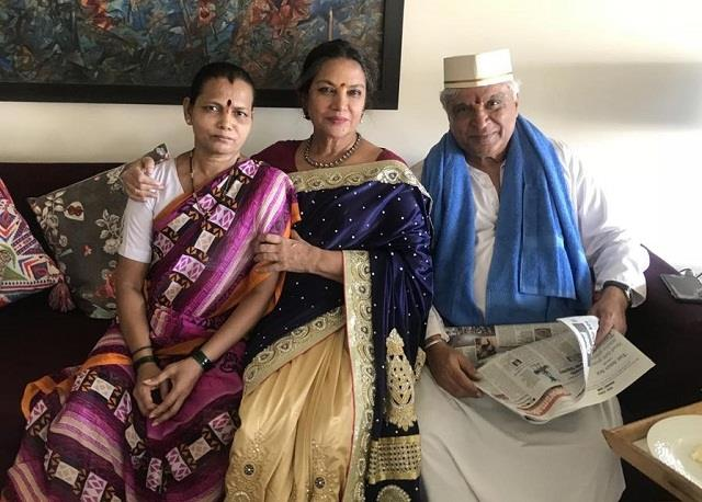 javed akhtar shabana azmi wore clothes of gifted by maid