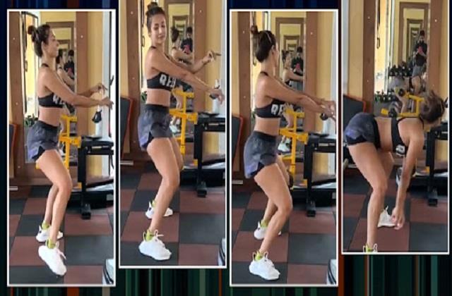 malaika arora shares her dance video from gym