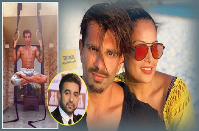 karan workout in air raj kundra comment wife bipasha also react