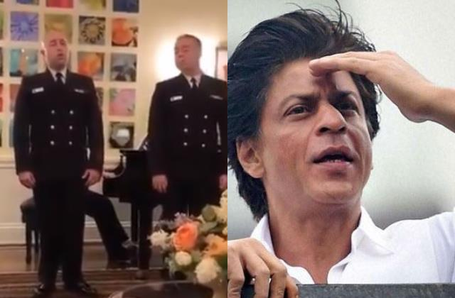 shahrukh get emotional seening us navy band performance on swadesh movie song