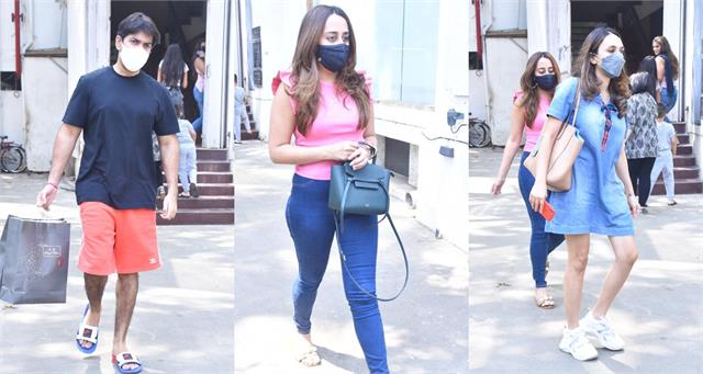 natasha dalal lunch date with brother in law rohit and sister in law janhvi