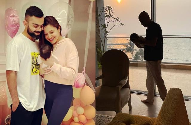 anushka sharma share photo in which her daughter play with grandfather